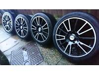 "16"" inch Fox Racing R3 Alloy Wheels 4x100 for Astra Corsa Civic Mg Clio Polo BMW Mini"