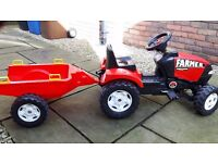 Kids Ride on Tractor with Detachable trailer