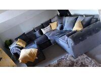 Brand New Merilyn Plush Velvet 3+2 / Corner Sofa / Swivel Chair / Footstool