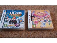 Nintendo ds games. Disney club penguin and disney princess magical jewels
