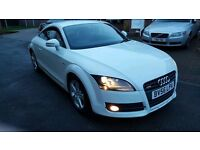 Audi TT 2.0 TFSI S-Line 47,500 miles and S-Tronic gearbox in white OFFERS WELCOME