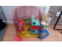 Free Hamster Cage and Accessories