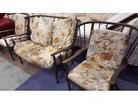 Ercol Sofa & 2 X Armchairs