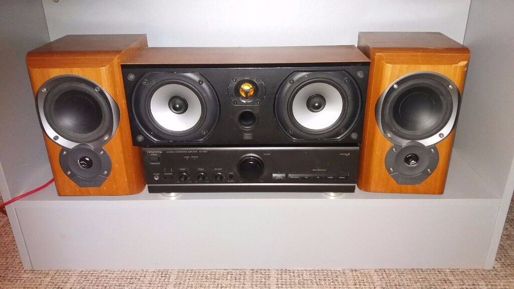 technics amp / mission speaker pair / monitor audio speaker