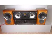 technics amp / mission speaker pair / monitor audio speaker
