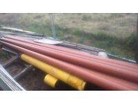 6m lengths of drain pipe 110mm