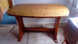 Solid pine dining table for sale