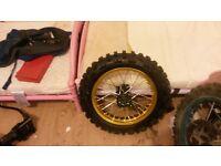 "brand new 14"" back pitbike wheel"