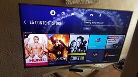 """LG 55"""" SUPER Smart ULTRA SLIM 4K UHD HDR PRO LED TV-55UH770V,built in Wifi,Freeview,GREAT Condition"""