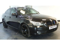 2009 58 BMW 5 SERIES 2.0 520D SE 4D 175 BHP DIESEL BLACK MOT 06/02/2017 2 OWNERS