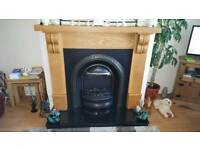 Beautiful solid wood fireplace