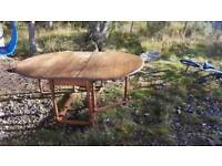 Antuque Solid oak folding Dinning table