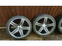 "Golf & audi 18"" alloys wheel &tyres little scratch"