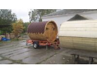 Brand new Mobile sauna with fireburning heater