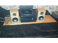 Turntable stereo setup