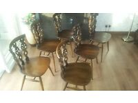 Ercol dinning chairs x6