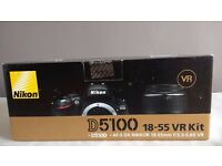 Nikon D5100 16.2MP Digital SLR Camera with AF-S DX 18-105mm VR Lens+16GB Card+ tripod + Bag and more