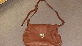 Italian brown leather handbag