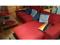 Large Sofa with Chaise Lounge Ikea (Kivic)