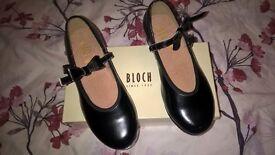 Bloch Mery Jane black tap shoes size 11.5 like new