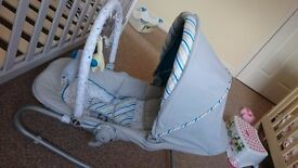 Boy baby bouncer/seat