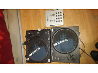 2x DJ Sound Lab Deck's and Kab Mixer 150