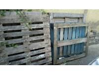 4 wooden pallets
