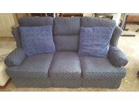 blue Marks and Spencer sofa