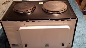 Mini Oven and Grill With Double Hot Plates 33 ltr - Andrew James