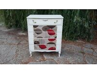 Vintage Retro Painted Shabby Chic Chest of Drawers Sanderson Dandelion