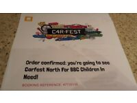 Carfest North 2018 Tickets.