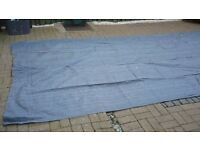 breathable awning ground sheet 15ft x 8ft blue gray colour good quality.