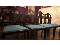 Four wooden dining chairs - very good condition