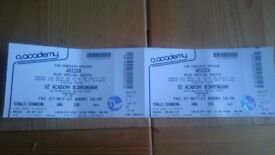 Weezer Tickets for tonight O2 Academy Birmingham - Collection Only.