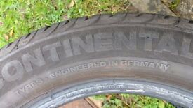 Continental Tyre 205/55 R16 ; 5-6mm tread remaining all over.