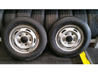 Ford Transit 2 x wheel rims + 2 x tyres 195 70 15 C