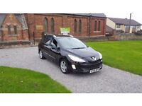 09 REG PEUGEOT 308 1.6 HDI SPORT SW ESTATE BLACK MOT-18 FSH GLASS-ROOF OUTSTANDING FREE-DELIVERY CAR