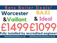 Worcester & Vaillant Supply & Fit £1499/Expert Boiler Installation,Repair & Service/Gas certificate*