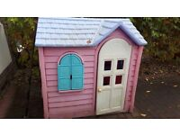 Pink little tikes house