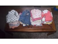 Selection of girls tops, dresses, skirts and jumpers age 12months up to 24 months