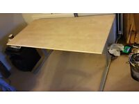 IKEA Fredrik wooden table with metal legs - Flat packed