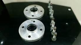 20mm Wide Hub Centric Wheel Spacers 4 Stud Renault Clio Twingo Megane etc
