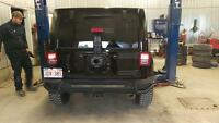 Rear bumper AEV conversion for Jeep Wrangler