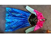 Official Disney Anna dress aged 4-5