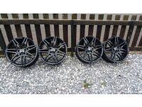 """Mercedes AMG 19"""" Alloy Wheels Black (set of 4)"""