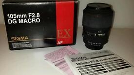 Sigma AF DG 105mm f2.8 macro lens