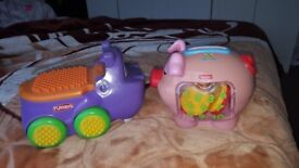 fisher price piggy bank for £5 and hippo with blocks for FREE