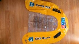 Pool School Step 3 Inflatable Kick Board - Excellent Used Condition