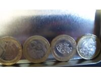 A collection of £2 coins