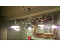 6 arm industrial type large light fitting